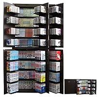 本棚 2個組 本収納 コミック DVD 収納 2個セット ラック CD 収納 本棚ストッカー 書棚ストッカー 収納庫 漫画 コミック DVD792枚 CD1128枚 コミック832冊 収納可能 幅90 高さ93 日本製 ダークブラウン