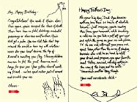 Quiplip Handwritten Yours Truly Birthday Cards 6-Pack (YT08206PCK) [並行輸入品]