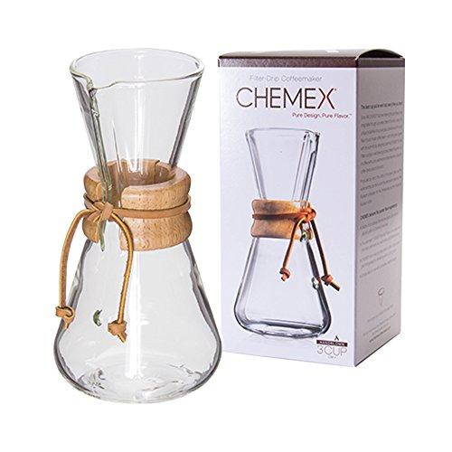 Chemex [ ケメックス ] コーヒーメーカー ハンドメイド 3カップ用 ドリップ式 CM-1 ハンドブロウ 新生活 [並行輸入品]