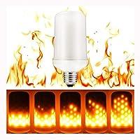 LED電球 炎のように輝くLEDライト E26口金 7W 1200-1400K 小型軽量 装飾電球 炎の動きを実現する装飾用ライト