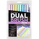 Tombow 56185 Dual Brush Pen Art Markers, Bright, 10-Pack. Blendable, Brush and Fine Tip Markers, Pastel, 1 Pack