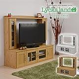 壁面収納テレビ台 ロータイプ130cm幅 FLL-0021-NA ナチュラル