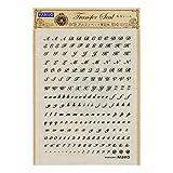 レジンデコ素材 パジコ 転写シール アルファベット 筆記体 404142
