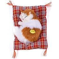 ぬいぐるみ猫 かわいい 猫おもちゃ装飾  動物ぬいぐるみ 抱き枕 クリスマス ギフト 贈り物 店飾り おもちゃ(イエロー+ホワイト)