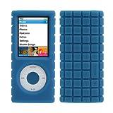 speck iPod Nano 4G Pixel Skin Blue PIXELSKIN-N4-BL
