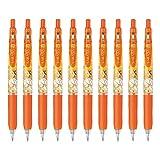 ゼブラ ジェルボールペン サラサクリップ ディズニープリンセス 0.5 レッドオレンジ ベル 10本 B-JJ29-DSP-ROR