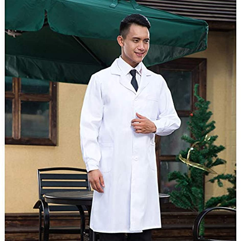 流産ブッシュ動物園MEI 1JIAドラッグストアワーキング服医師服長袖男性ホワイトスクラブ、サイズ:L、高さ:175?180センチメートル