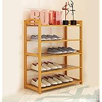 靴ラックナチュラル竹木製シンプルな靴ラックストレージオーガナイザーホルダーマルチレイヤー多機能ストレージシェルフ (サイズ さいず : 70 * 25 * 87cm)