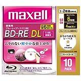 maxell 録画用ブルーレイディスク BD-RE DL 260分 (1~2倍速対応) 「ひろびろ超美白レーベ BE50VFWPA.10S
