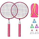 Fitness Equipment Badminton Racket Set Sports Badminton Racquet with Ball Bag Badminton Playing Toy for Children Kids