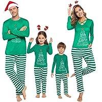 iClosam Matching Family Christmas Pajamas Set Holiday Pajamas Sleepwear Dad Mom PJs