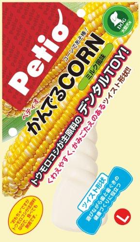 ペティオ かんでるCORN ツイスト ミルク風味 L