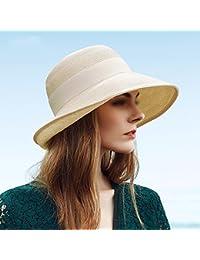 LIANGJUN 女性の 日よけ帽子 夏 折りたたみ可能 通気性のある シーサイド ホリデー エレガント ファッション、 3色の可用性 ( 色 : ベージュ )
