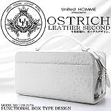 ユナイテッドオム・プレジデント United HOMME-President- セカンドバッグ ホワイト オーストリッチ型押し BOX型 UHP-2174