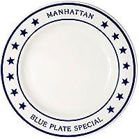 Fishs Eddy(フィッシュズエディ) マンハッタンブループレートシリーズ ディナープレート 大皿25cm