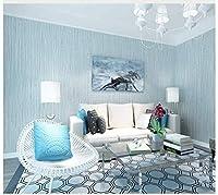 壁紙垂直ストライプブルー不織布モダンミニマリスト壁紙ロール用寝室リビングルームソファテレビ背景壁家の装飾