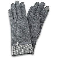 □スマートフォン(汎用) スマートフォン対応手袋「Lucy. Gloves」 千鳥格子/グレー LP-GVRLGY