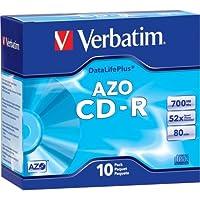 Verbatim DataLifePlus 94760CD Recordableメディア–CD - R 52x 700MB––10パックスリムケース–120mm1.33Hour最大記録時間