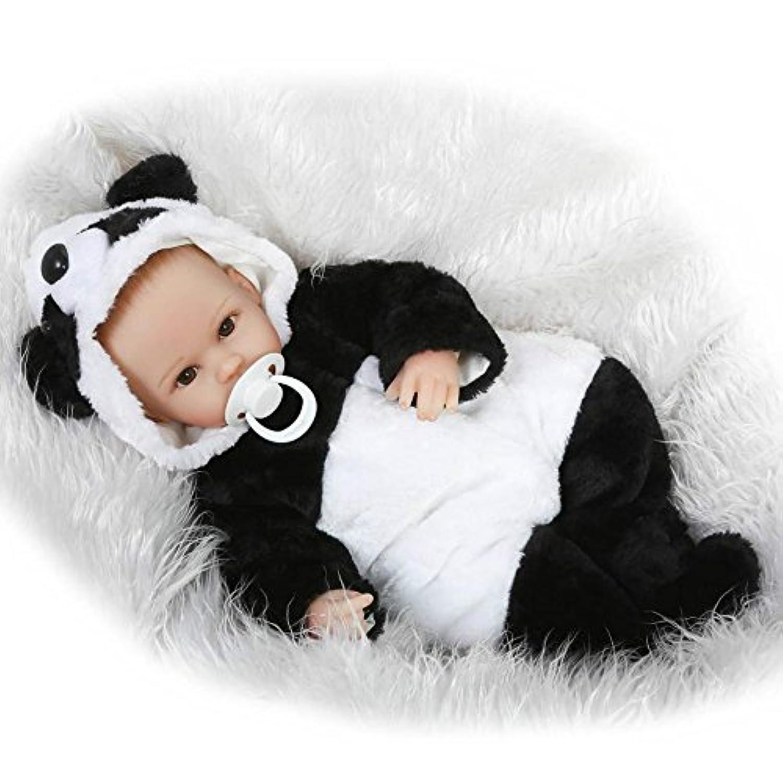 ソフトビニールRebornベビー人形Lifelikeマグネット口新生児女の子おもちゃnoヘア16インチ