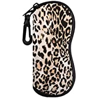 MoKo Eyeglass Soft Case, Zippered Sunglasses Pouch with Clip