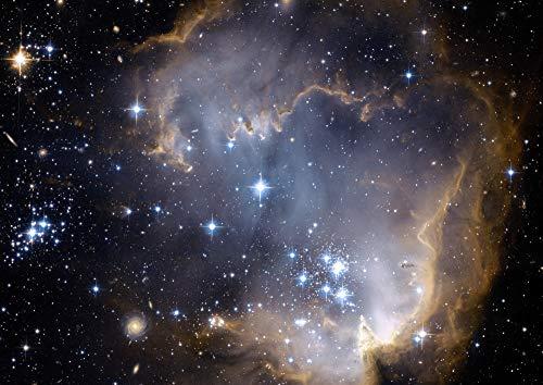 絵画風 壁紙ポスター (はがせるシール式) 星の競演 ngc 602 小マゼラン雲 散開星団 星雲 恒星 みずへび座 銀河 ギャラクシー 神秘 キャラクロ GLXY-018A2 (A2版 594mm×420mm) 建築用壁紙+耐候性塗料