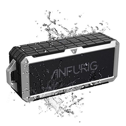 Anfurig A4防水 Bluetooth スピーカー、 IPX7 防水規格 Bluetooth スピーカー 、アウト...