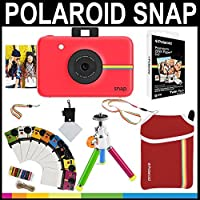 Polaroid Snap Instant Camera (Red) + 2x3 Zink Paper (20 Pack) + Neoprene Pouch + Photo Frames + Accessory Bundle [並行輸入品]