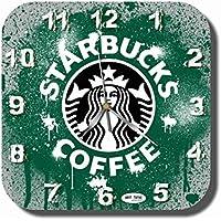 Starbucks 11'' 壁時計 (スターバックス) あなたの友人のための最高の贈り物。あなたの家のためのオリジナルデザイン