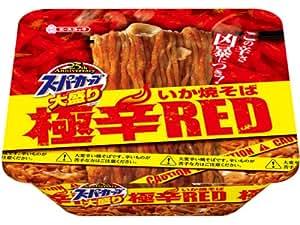 エースコック スーパーカップ 大盛りいか焼そば極辛RED 159g×12個