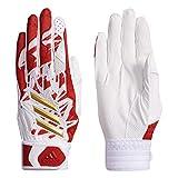 adidas(アディダス) 少年野球 バッティンググローブ 5T ホワイト/スカーレット O FTK84