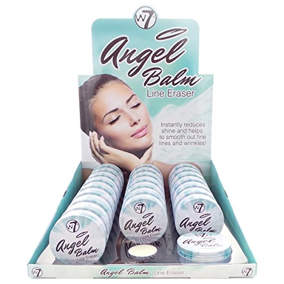 プログレッシブ折るインタフェースW7 Angel Balm Line Eraser Display Set, 24 Pieces plus Display Tester (並行輸入品)