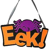 Kesoto ハロウィン 装飾 吊り看板 ハロウィン パーティー Eek 蜘蛛 スパイダー ハンギング 贈り物 飾り