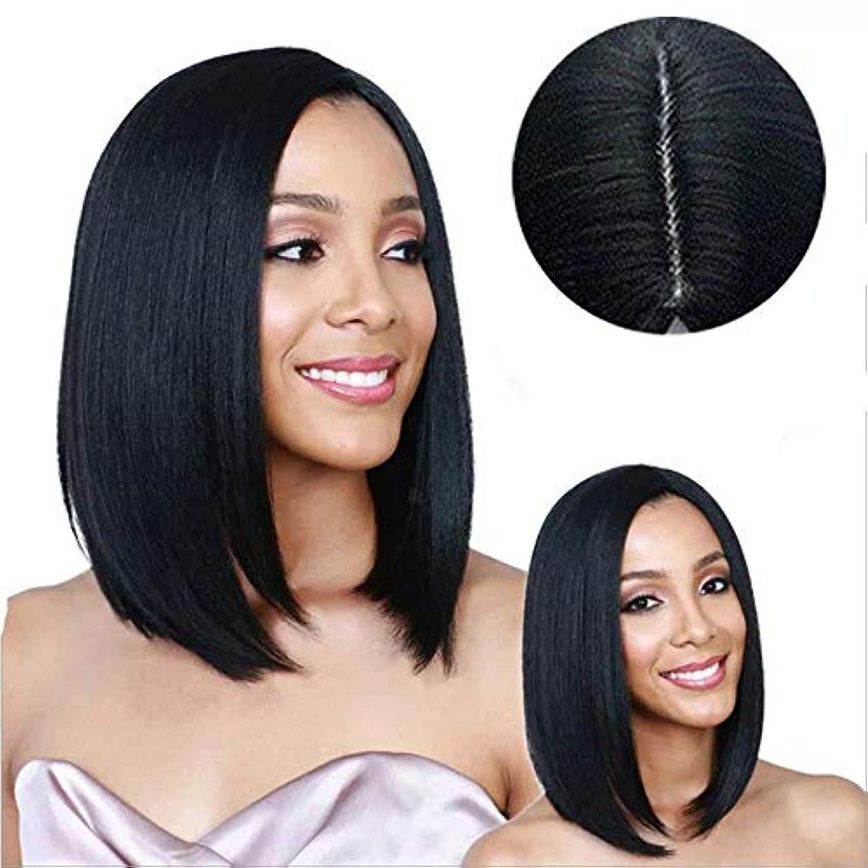 教科書ファンタジー振幅女性用ウィッグ、ナチュラルファッションロングストレートヘアショルダーふわふわヘアセット、高温シルク耐熱合成繊維ウィッグ