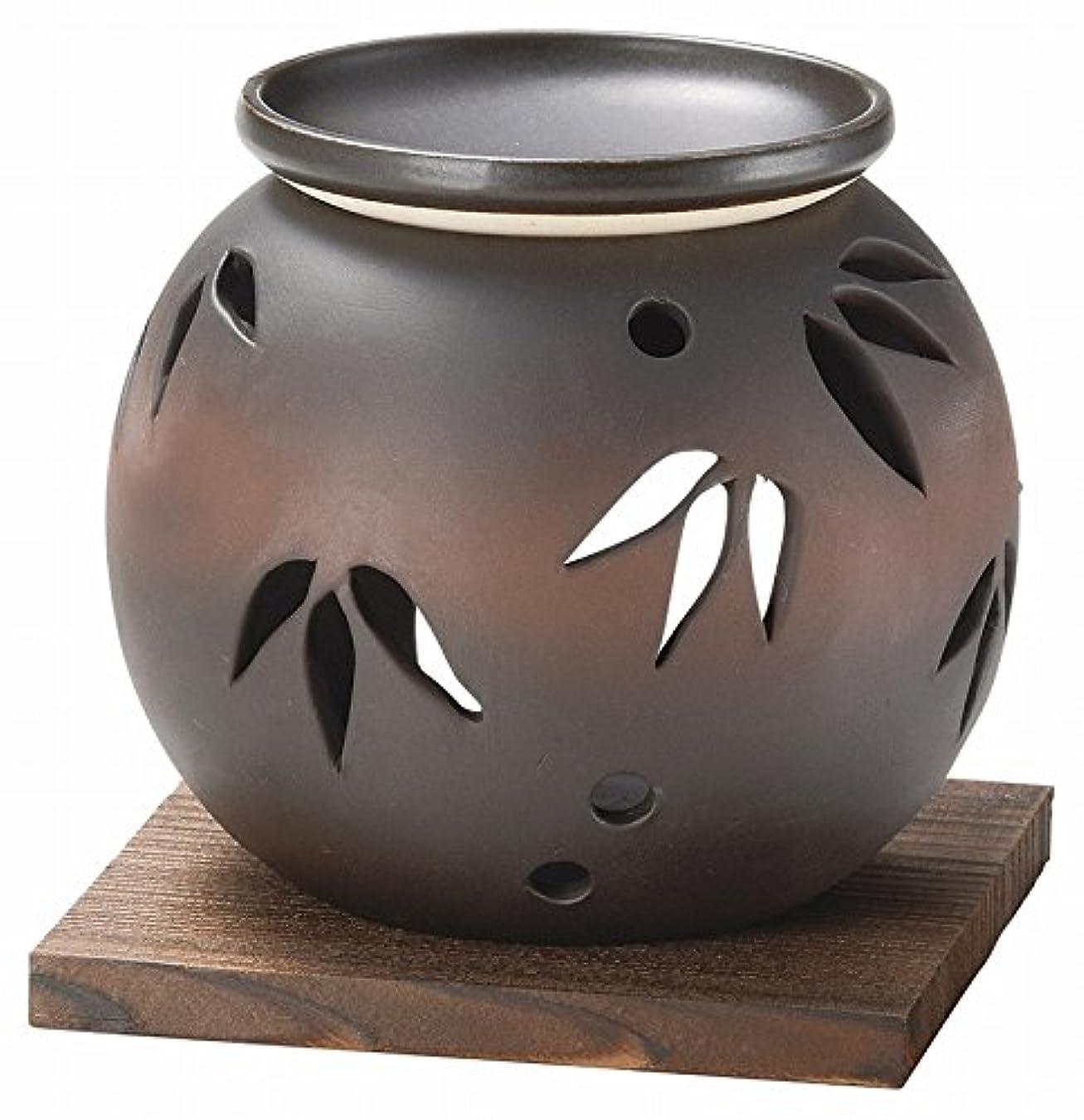 エゴイズム球状理論的日本セラミックTokoname ware。CHAKORO。Tealeaf Incense Holder。