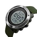 PHCOOVERS デジタル 腕時計 メンズ レディース 男女兼用 ミリタリー ウォッチ アラーム クロノグラフ 多機能 (グリーン S)