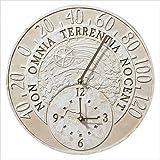 01800 Moss Green Fossil Celestial Thermometer Clock 壁掛け時計/温度計 Whitehall社 Moss Green【並行輸入】