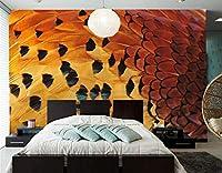 """3D壁画の壁紙 - 羽の質感モダンな壁紙 - リビングルームのソファテレビの壁の寝室 - 3D壁画 - 400 cm(W)x 250 cm(H)(13'1""""x 8'2"""")ft"""