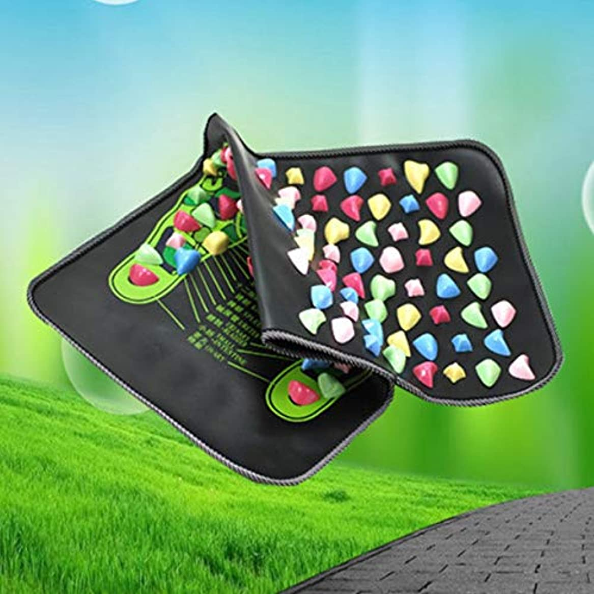最大限お祝い拾うReflexology Walk Stone Foot Leg Pain Relieve Relief Walk Massager Mat Health Care Acupressure Mat Pad massageador