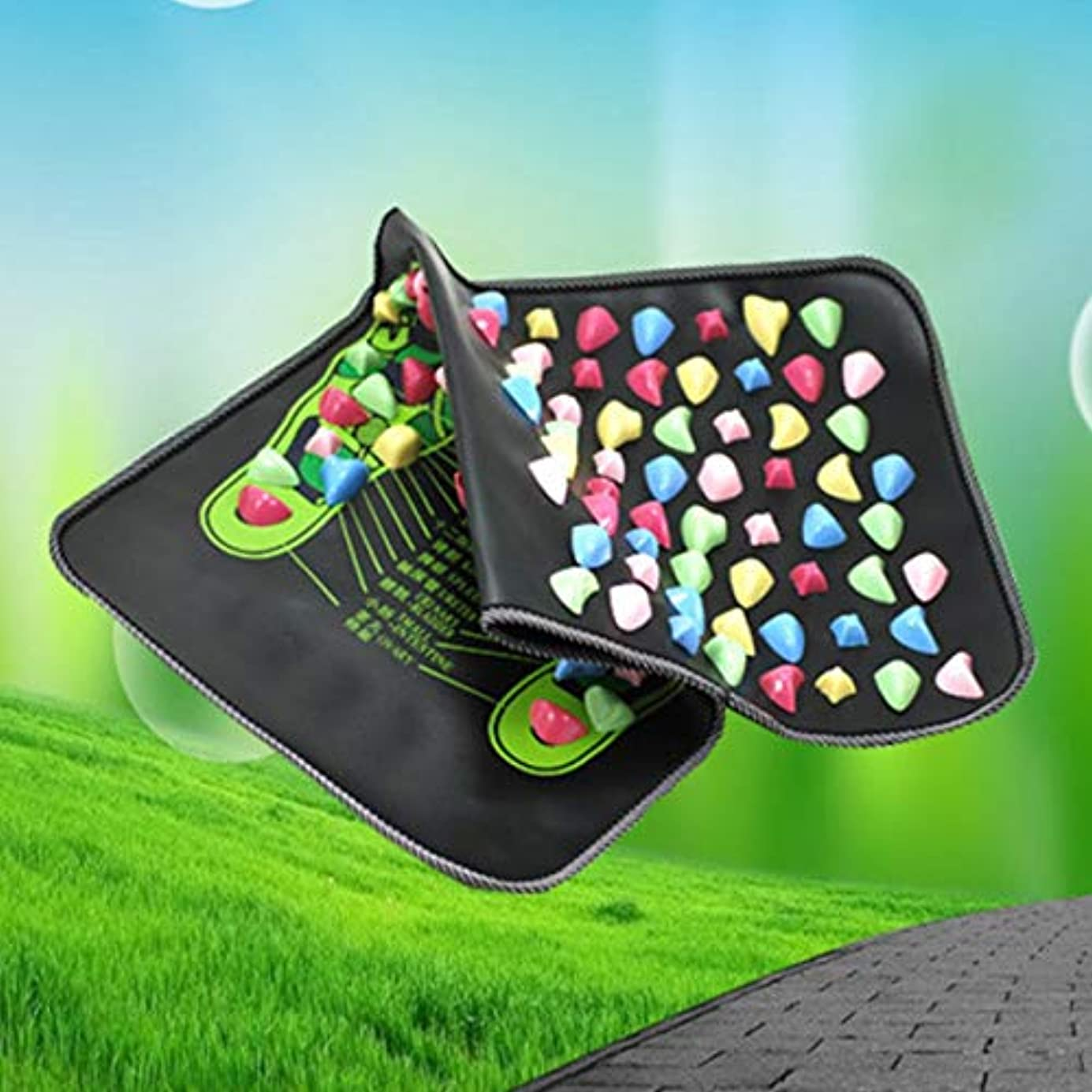 スキー不要漏斗Reflexology Walk Stone Foot Leg Pain Relieve Relief Walk Massager Mat Health Care Acupressure Mat Pad massageador