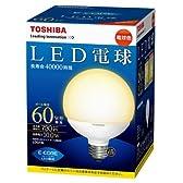 東芝 E-CORE(イー・コア) LED電球 ボール電球形 10.0W (E26口金・ボール電球60W相当・730ルーメン・電球色) LDG10L