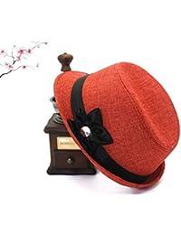 XZP コットンとリネンの帽子、心5花びらの帽子フォーシーズン新しいエレガントで静かな女性のリネンハット女性のための