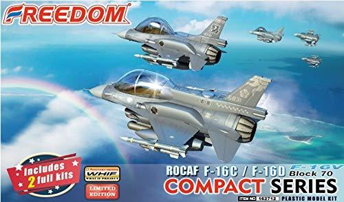 フリーダムモデルキット コンパクトシリーズ ROCAF F-16C/F-16D ブロック70 F-16V ヴァイパー プラモデル FRE162712