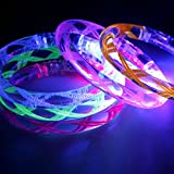 7個蛍光スティック/電子LEDフラッシュブレスレットby sparik Enjoy /発光ブレスレット+ 7セットスペア電池