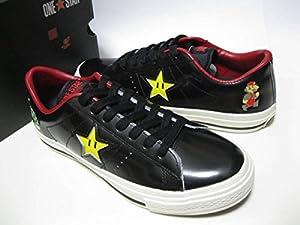 デッド!!コンバース ONE STAR SUPER MARIO BROS.OX BLACK ワンスター スーパーマリオ 25.5cm 任天堂 コラボ 限定モデル