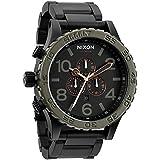 ニクソン NIXON 腕時計 メンズ THE 51-30 A083-1530 マットブラック/グリーン クロノグラフ [並行輸入品]