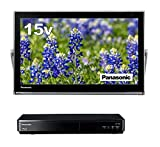 パナソニック 15V型 ポータブル 液晶 テレビ プライベート・ビエラ UN-15TD6-K 防水タイプ 500GB ブルーレイディスクプレイヤー/HDDレコーダー付き ブラック