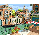 "Newsight DIY Oil Painting Paintworks Paint by Number for Kids and Adults (16"" x 20""Dream Venice)"