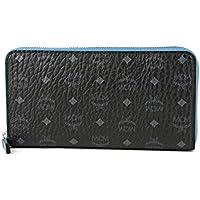エムシーエム(MCM) 長財布(ラウンドファスナー) MYL6AVC80 BK001 カラービセトス ブラック 黒/ブルー 青 [並行輸入品]