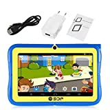7 inch Screen ARM Quad Core 1.3GHz for Android Wifi Dual Camera Mini Children Kids Tablet PC Leaning Educational Toys - Blule