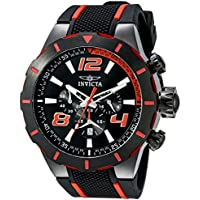 Invicta Men's 20109 S1 Rally Stainless Steel Black and Red Watch
